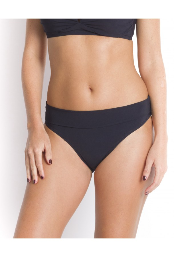 High-Waisted Bikini Bottom reversible Tobago PAIN DE SUCRE Black - Uni Life