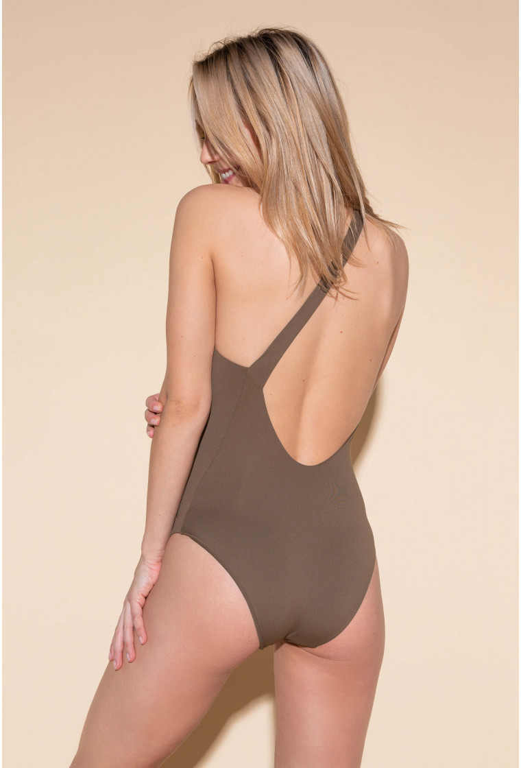 One Piece swimsuit CALARENA, Army - Souplesse