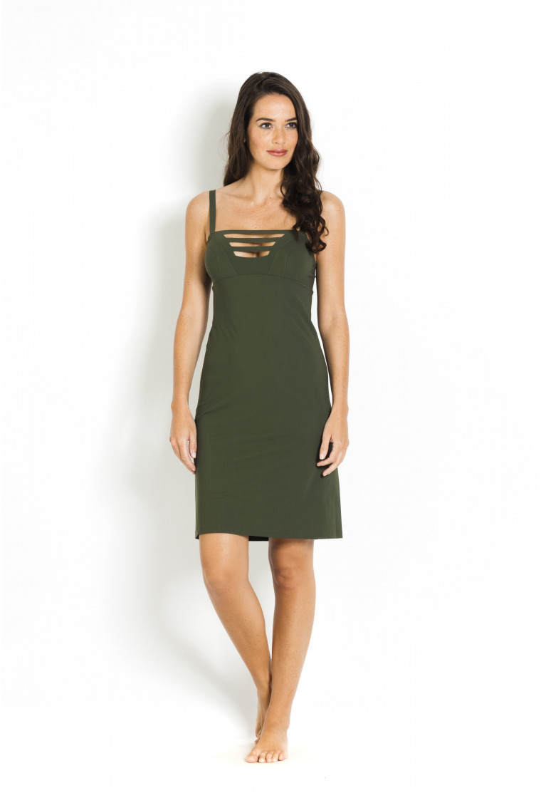 Beach Dress Penelope PAIN DE SUCRE Khaki - Uni Life